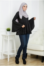 Victoria Blouse Peplum (PLUS SIZE-BREASTFEEDING)