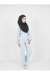 yina casual High waist Set Blouse+Pant (PLUS SIZE BREASTFEEDING)