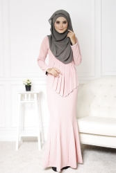 Sandra Peplum Pearl Jubah Dress (PLUS SIZE BREASTFEEDING)