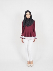Syira Peplum Blouse (PLUS SIZE BREASTFEEDING)
