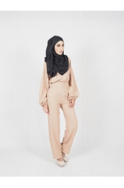 yina casual High waist Set Blouse+Pant (PLUS SIZE MATERNITY PREGNANCY)