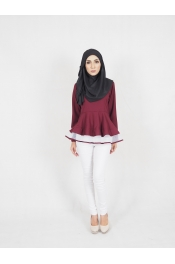 Syira Peplum Blouse (BREASTFEEDING)