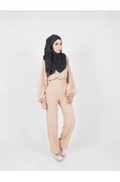 yina casual High waist Set Blouse+Pant (BREASTFEEDING)
