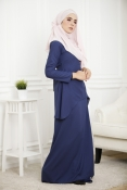 Louisha Plain Fishtail Ribbon Baju Kurung (Modern)(BREASTFEEDING)