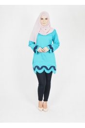 Kiyani Colour Blouse(PLUS SIZE)