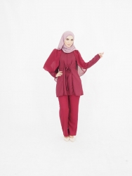 Ashina Wing Set Blouse+Pants (PLUS SIZE)