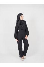 yina casual High waist Set Blouse+Pant (PLUS SIZE)