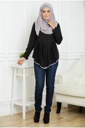 Casandra Peplum Blouse (Plus Size)