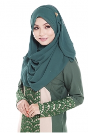 City Eastern Tudung Forest Green 2PCS