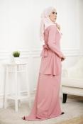 Louisha Plain Fishtail Ribbon Baju Kurung (Modern)(MATERNITY-PREGNANCY)
