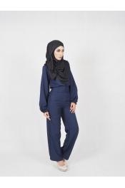 yina casual High waist Set Blouse+Pant (MATERNITY PREGNANCY)