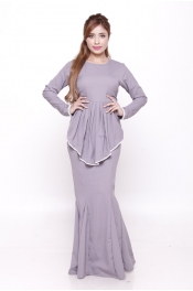 (Plus Size) Sandra Peplum Pearl Jubah Dress