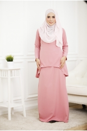 Louisha Plain Fishtail Ribbon Baju Kurung(Modern) (PLUS SIZE)