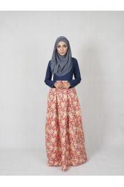 Amisha Floral Jubah Dress (PLUS SIZE)