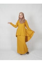 leofar Fishtail Printed Baju kurung (PLUS SIZE)