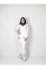 Seya Floral Printed Baju kurung (PLUS SIZE)