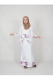 Qella Floral Printed Baju kurung (PLUS SIZE)