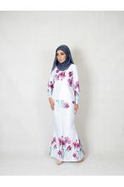 shenal Floral Printed baju Kurung  (PLUS SIZE)