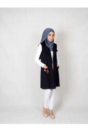 Nura Jacket Blazet Flower Blouse (PLUS SIZE)