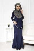 Sandra Peplum Pearl Jubah Dress (PLUS SIZE-MATERNITY-PREGNANCY)