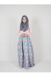 Amisha Floral Jubah Dress (PLUS SIZE MATERNITY PREGNANCY)