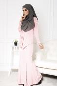 Sandra Peplum Pearl Jubah Dress (PLUS SIZE-MATERNITY-PREGNANCY)