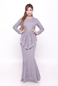 Sandra Peplum Pearl Jubah Dress (PLUS SIZE MATERNITY-PREGNANCY)