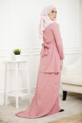 Louisha Plain Fishtail Ribbon Baju Kurung(Modern)(PLUS SIZE MATERNITY-PREGNANCY)