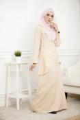 Louisha Plain Fishtail Ribbon Baju Kurung(Modern)(PLUS SIZE MATERNITY-PREGNANCY)