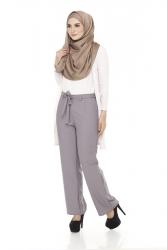 Yans High waist Pants Ribbon (PLUS SIZE)