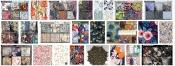 Printed fabric Box Emboss Cotton+Silk Line (17)