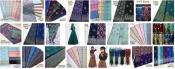 Printed fabric Emboss Cotton+Silk Line (18)
