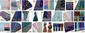 Printed fabric Checker Cotton+Silk+Polyester (29)