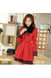 Korean Classic Summer Check Print on hand Casual Dress