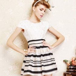Europe Design Pattern Casual Dress