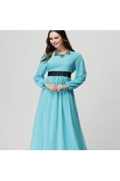 Muslim Modern Jubah Dress With Belt