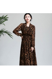Muslim Jubah Dress Tiger Skin Printed Dress