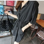 Korean Summer Casual Plus Size Dress Outdoor Wear