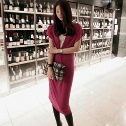 Korean V Style Casual Office Women Dress
