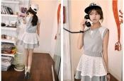 Korean Summer Trendy Lace Design Dress