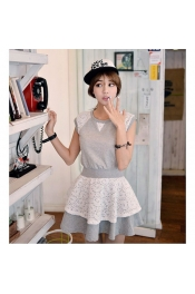 Korean Summer Trendy Lace Design Dress