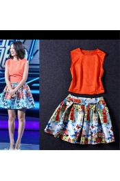 Korean Casual City Design Tops+Skirts Exclusive Dress