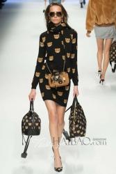 Europe Modeling Casual Women Dress Teddy Bear Printed sleeveless