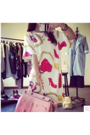 Korean Summer Retro Design Printed Dress Exclusive