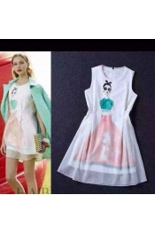 Korean Summer Retro Printed Casual Dress Exclusive