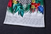Korean Summer Island Forest Printed Retro Top+Skirt Exclusive
