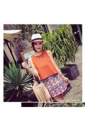Korean Autumn Casual Top+Skirt