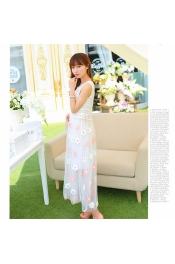 Korean Summer Flora Dining Party Dress
