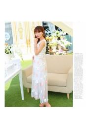 Korean Summer Flora Dining Party Dress