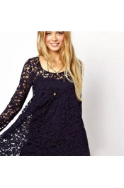 Euro Summer & Spring New Coast Shola Dress in Lace